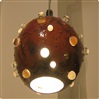 Marte hanging lamp with crystals 28 cm diam